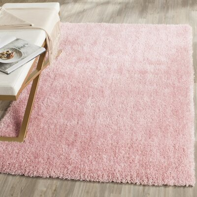 Winnett Hand-Tufted Pink Area Rug Rug Size: 5 x 7
