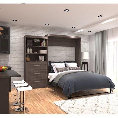 Roslyn Queen Murphy Bed Color: Bark Gray