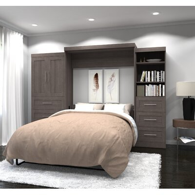 Shari Queen Murphy Bed Finish: Bark Gray