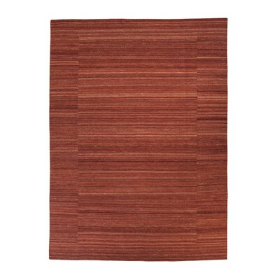 Roland Hand-Woven Red Area Rug Rug Size: Rectangle 5 x 710