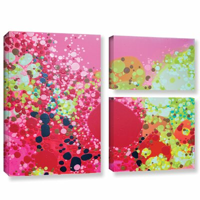 Long Kiss 3 Piece Painting Print on Wrapped Canvas Set