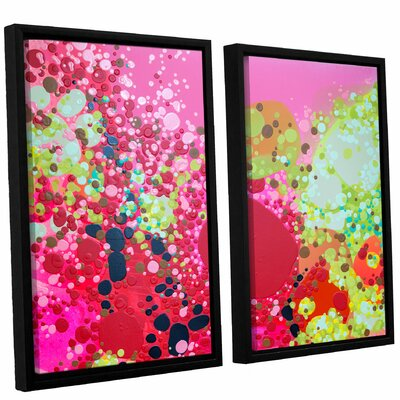 Long Kiss 2 Piece Framed Painting Print on Canvas Set