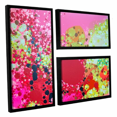 Long Kiss 3 Piece Framed Painting Print on Canvas Set