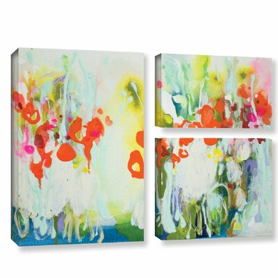 My Garden 3 Piece Painting Print on Wrapped Canvas Set