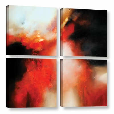 Precipice 4 Piece Painting Print on Wrapped Canvas Set