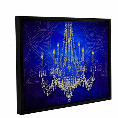 Blue Class Framed Graphic Art on Wrapped Canvas