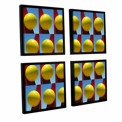 Lemon Drops 4 Piece Framed Photographic Print on Wrapped Canvas Set Size: 36
