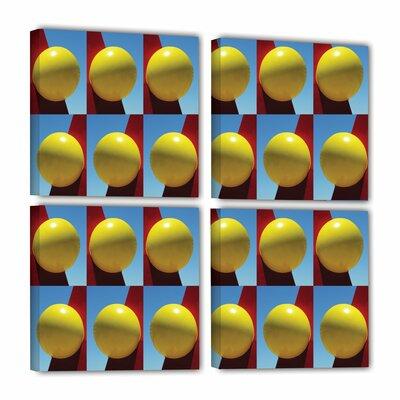Lemon Drops 4 Piece Photographic Print on Wrapped Canvas Set Size: 36