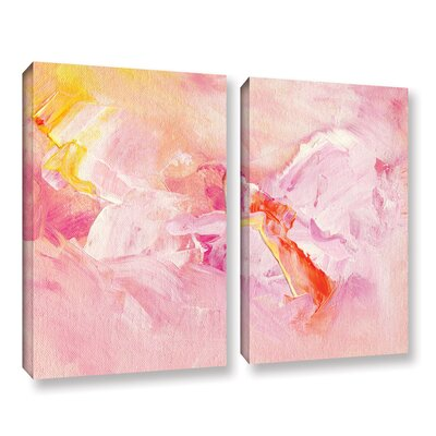 Spring Abstract 2 Piece Painting Print on Wrapped Canvas Set