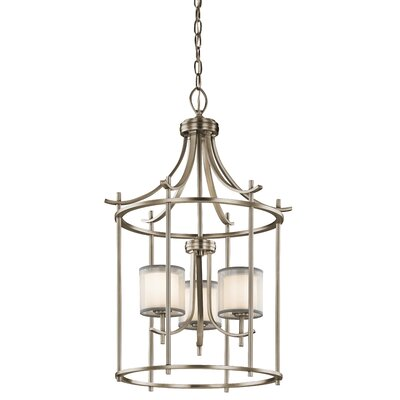 Ronald 3-Light Foyer Pendant Finish: Antique Pewter