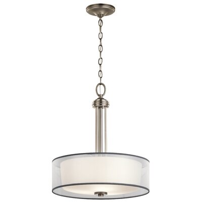 Ronald 3-Light Drum Pendant Finish: Antique Pewter