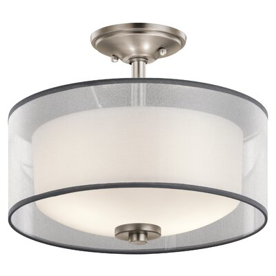 Ronald 2-Light Semi Flush Mount Finish: Antique Pewter