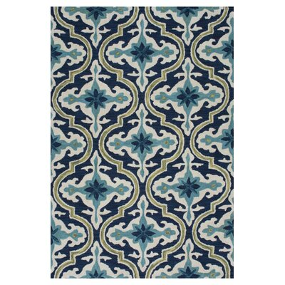 Socorro Hand-Looped Blue Area Rug Rug Size: 76 x 96