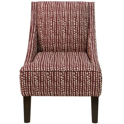 Goldhorn Armchair Upholstery: Line Dot Holiday Red OGA, Nailhead Detail: No Trim