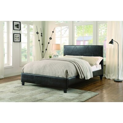 Alfords Upholstered Platform Bed Size: King