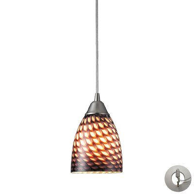 Ammara 1-Light Mini Pendant Shade Color: Coco
