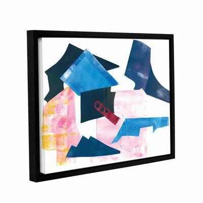 Geometric Abstract I Framed Graphic Art on Wrapped Canvas Size: 14