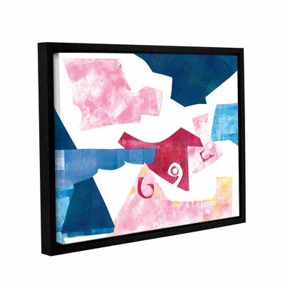 Geometric Abstract II Framed Graphic Art on Wrapped Canvas Size: 14