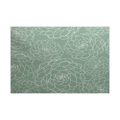Allen Park Green Indoor/Outdoor Area Rug Rug Size: 4 x 6