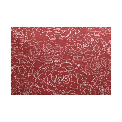 Allen Park Red Indoor/Outdoor Area Rug Rug Size: 2 x 3