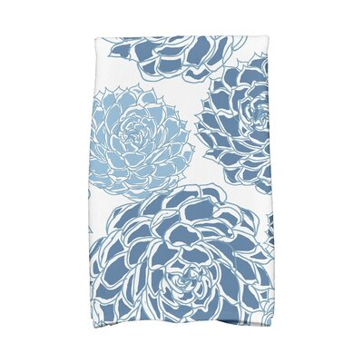 Flower Cotton Hand Towel Color: Blue