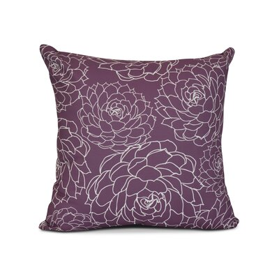 Allen Park Outdoor Throw Pillow Color: Purple, Size: 18 H x 18 W x 3 D