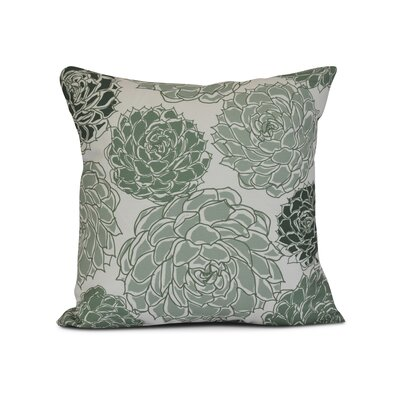 Neville Outdoor Throw Pillow Size: 16 H x 16 W x 3 D, Color: Green
