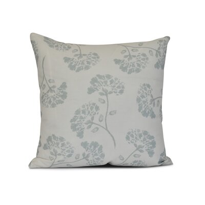 Neville Print Throw Pillow Size: 18 H x 18 W x 3 D, Color: Aqua
