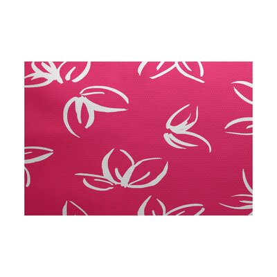 Neville Pink Indoor/Outdoor Area Rug Rug Size: 5 x 7