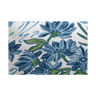 Neville Blue Indoor/Outdoor Area Rug Rug Size: 4 x 6