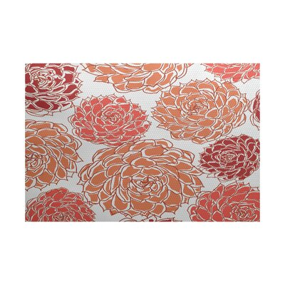 Neville Orange Indoor/Outdoor Area Rug Rug Size: 2 x 3