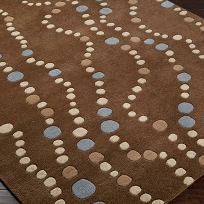 Mcquaid Brown Area Rug Rug Size: Round 99