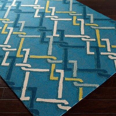 Kelston Teal/Blue Indoor/Outdoor Area Rug Rug Size: Rectangle 2' x 3'