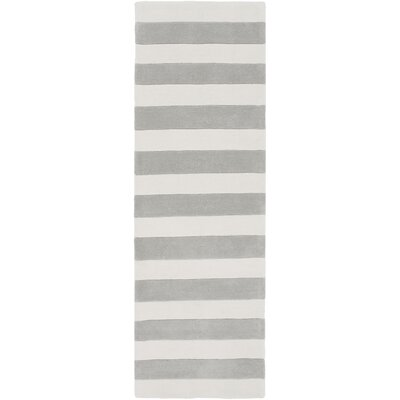 Millington Hand-Tufted Ivory/Gray Area Rug Rug Size: Runner 26 x 8