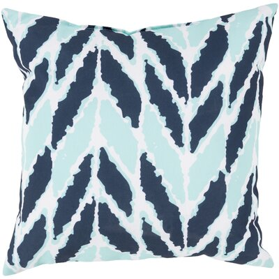 Kelston Outdoor Throw Pillow Color: Cobalt/Mint, Size: 20 H x 20 W x 4 D