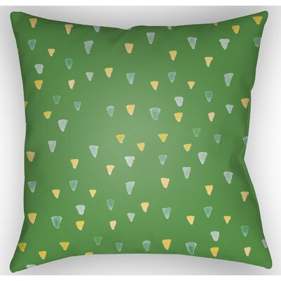 Eastlake Indoor/Outdoor Throw Pillow Size: 18 H x 18 W x 4 D, Color: Green