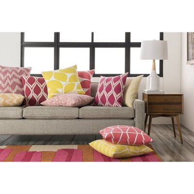 Epsilon 100% Cotton Throw Pillow Cover Size: 22 H x 22 W x 0.25 D, Color: PinkNeutral