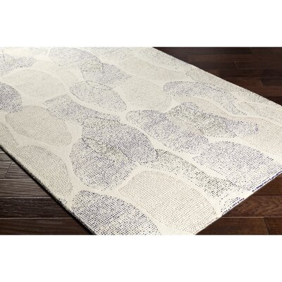 Brooker Hand-Tufted Neutral/Blue Area Rug Rug Size: Rectangle 5 x 76
