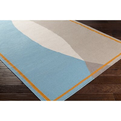 Aikens Hand-Woven Neutral/Orange Area Rug Rug Size: 2 x 3