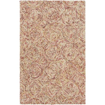 Bryant Hand-Hooked Red/Pink Area Rug Rug Size: Rectangle 8 x 10