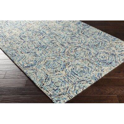 Bryant Hand-Hooked Blue Area Rug Rug Size: Rectangle 2 x 3