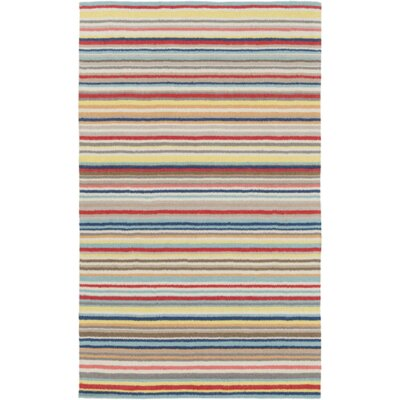 Bryant Hand-Hooked Red/Yellow Area Rug Rug Size: Rectangle 5 x 76