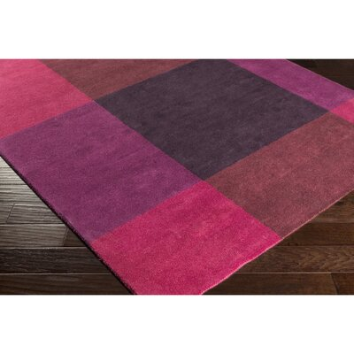 Mentzer Hand-Tufted Red/Purple Area Rug Rug Size: Rectangle 5 x 76