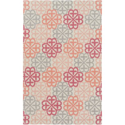 Bryant Hand-Hooked Neutral/Pink Area Rug