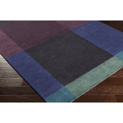 Mentzer Hand-Tufted Blue/Purple Area Rug Rug Size: Rectangle 5 x 76