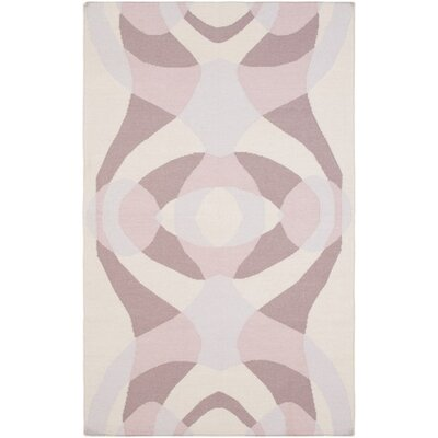 Aikens Hand-Woven Pink/Purple Area Rug Rug Size: Rectangle 2 x 3