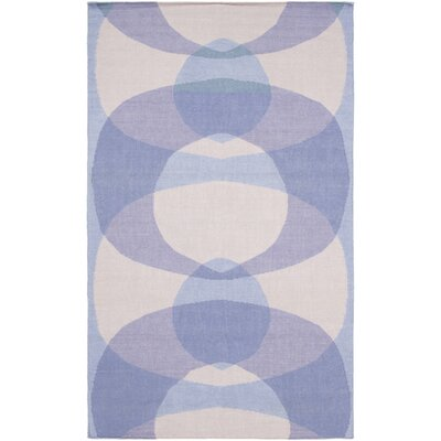 Aikens Hand-Woven Purple/Blue Area Rug Rug Size: 2 x 3