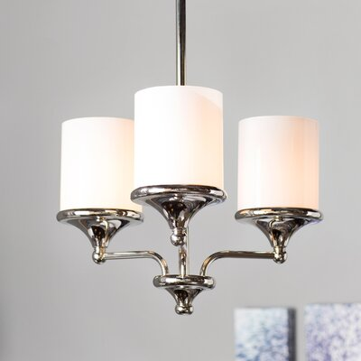 Cahill 3-Light Shaded Chandelier