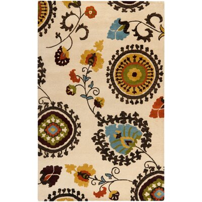 Woodburn Hand-Tufted Beige Area Rug