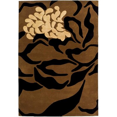 Woodburn Hand-Tufted Brown/Black Area Rug